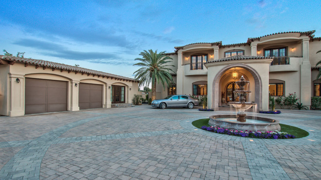 Integrity Luxury Homes Was Hired To Create A Mediterranean Estate Feel For  Their Client. With The Formal Entrance Gate To The Large Driveway And Porta  Cache ...