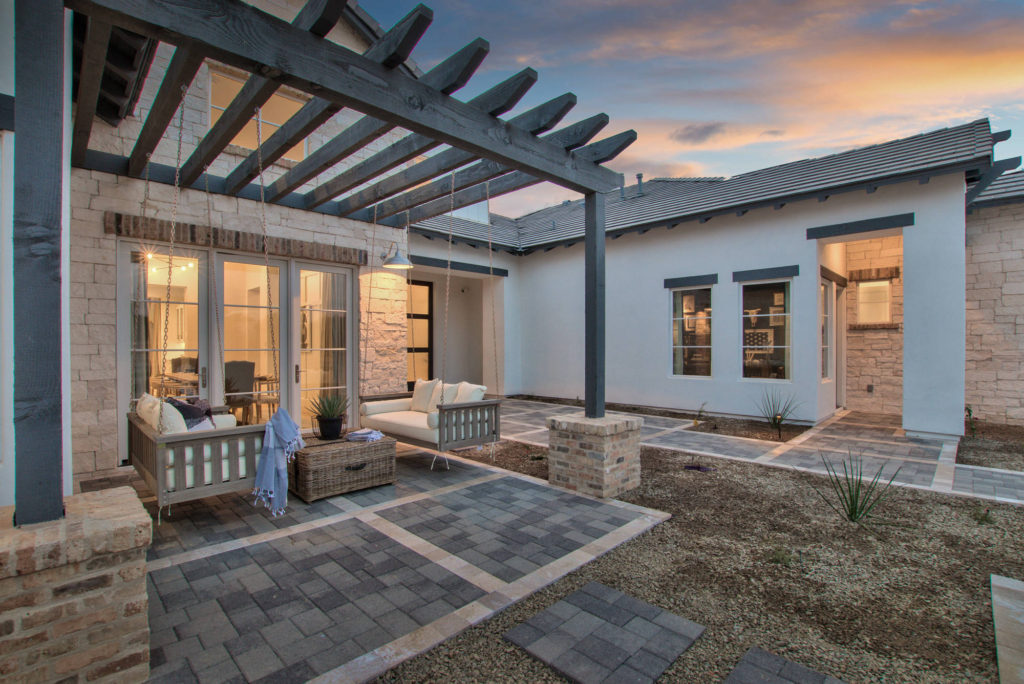 Modern-Farmhouse-Cozy-Courtyard-Patio-Porch-Swing-By-Integrity-Luxury-Homes