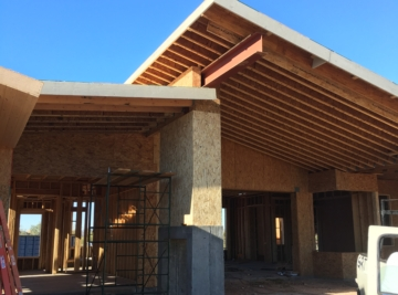 Modern scandinavian style custom home build