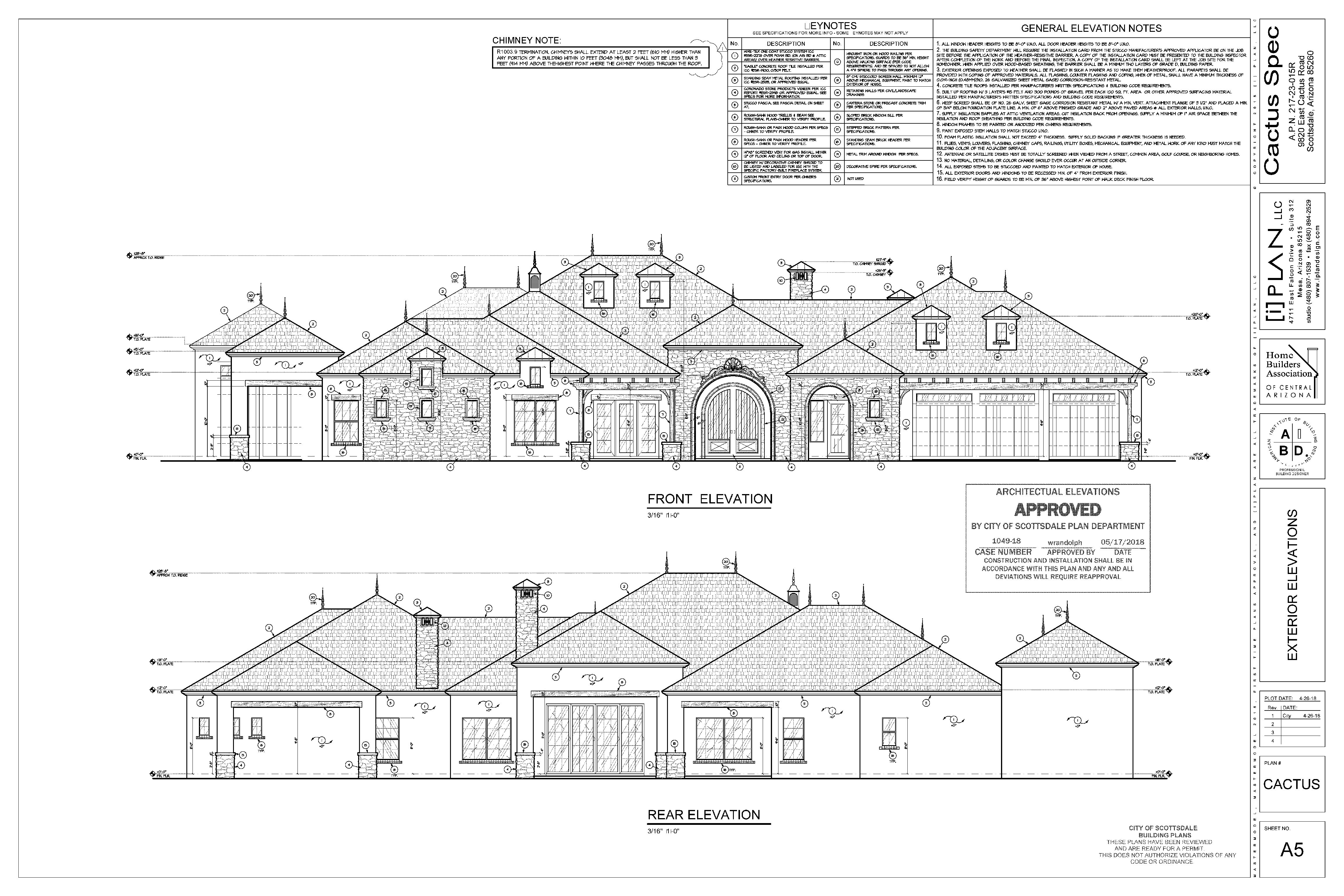 modern french farm exterior front rear elevation