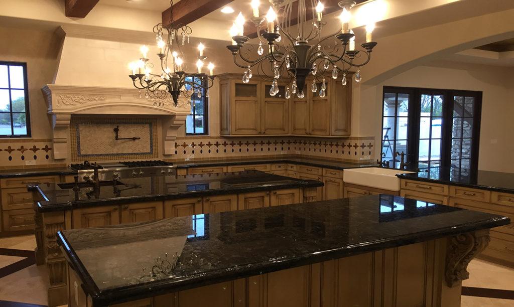 Tuscan Elegance Custom Home Kitchen
