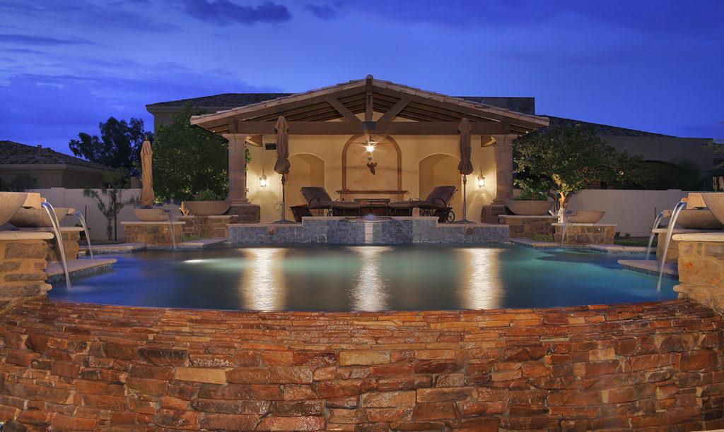 Casa Turquoise Custom Home Mediterranean Pool